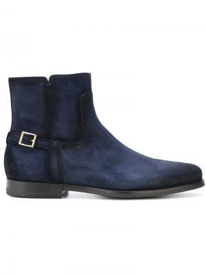 Side zip boots Santoni. Цвет: синий