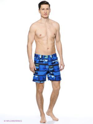 Бордшорты Finn Flare. Цвет: темно-синий, синий, голубой