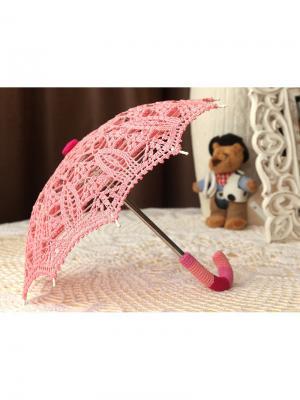 Интерьерный зонт Клубничная пенка Локсы. Цвет: розовый