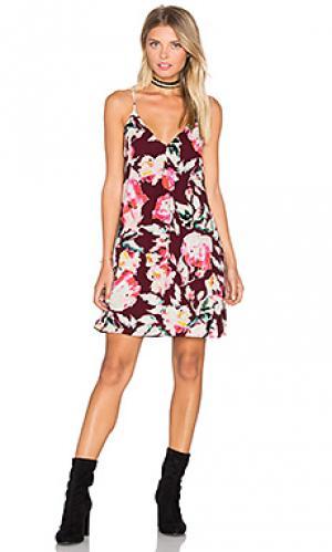 Платье-майка Eight Sixty. Цвет: вишня
