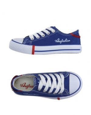 Низкие кеды и кроссовки AUSTRALIAN. Цвет: синий