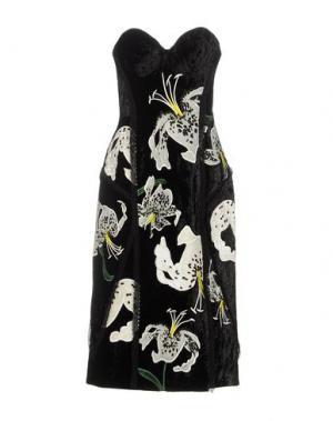 Платье до колена ERDEM. Цвет: черный