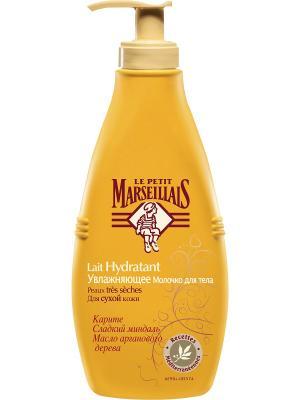 Молочко для тела увлажняющее Карите, Сладкий миндаль и Масло арганового дерева 250мл LE PETIT MARSEILLAIS. Цвет: светло-оранжевый, золотистый