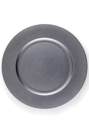 Набор из 6 тарелок Brandani. Цвет: серебряный