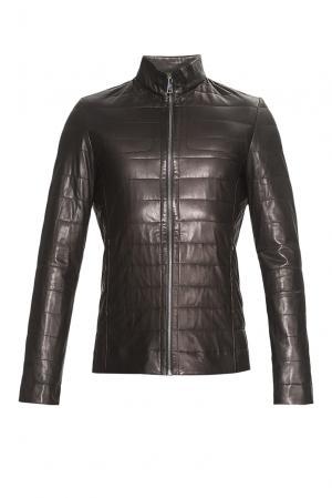 Кожаная куртка 181532 Adamo. Цвет: черный