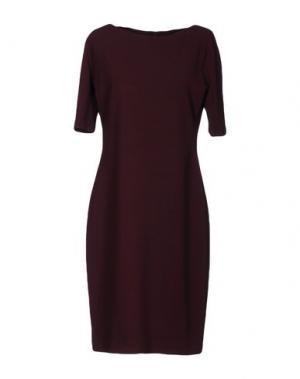 Платье до колена SIMONA MARTINI. Цвет: баклажанный