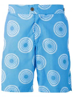 Patrice Printed Swim Shorts Okun. Цвет: синий