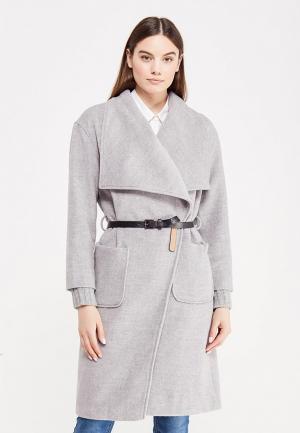 Пальто LOST INK. Цвет: серый