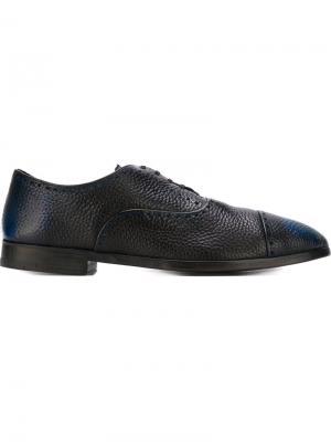Двухцветные туфли броги Alberto Fasciani. Цвет: синий