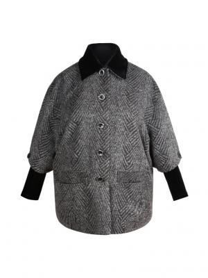 Пальто KR. Цвет: темно-серый