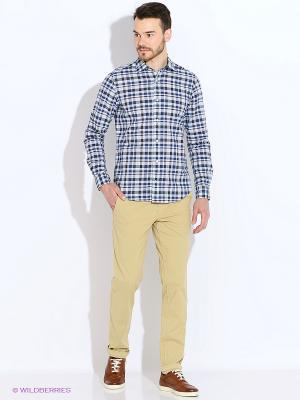 Рубашка Eden Park. Цвет: голубой, коричневый, синий