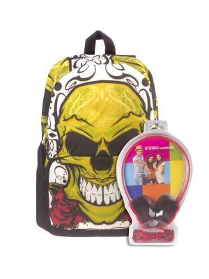 Рюкзак 3D Bags. Цвет: черный, желтый
