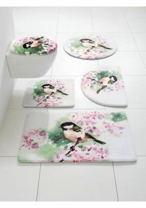 Коврик для ванной Heine Home. Цвет: белый с рисунком