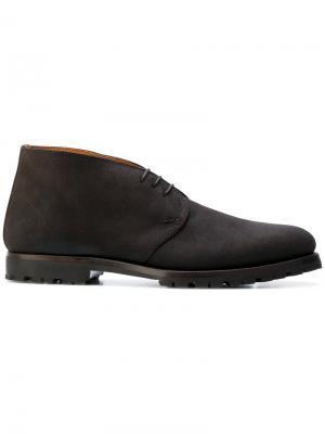 Ботинки-дезерты с контрастной подкладкой Andrea Ventura. Цвет: коричневый