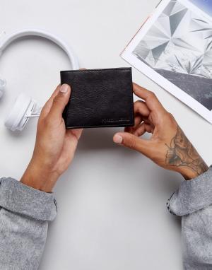 Forbes & Lewis Черный кожаный бумажник. Цвет: черный