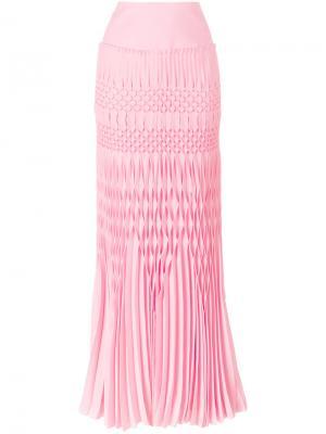 Длинная юбка с фактурной отделкой Haider Ackermann. Цвет: розовый и фиолетовый