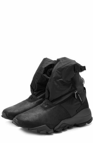 Высокие комбинированные кроссовки Ryo на толстой подошве Y-3. Цвет: черный