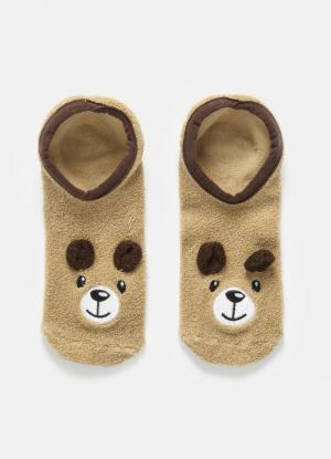 Носки в виде животных для девочек OSTIN. Цвет: светло-бежевый