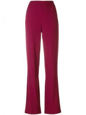 Прямые брюки Tory Burch. Цвет: красный