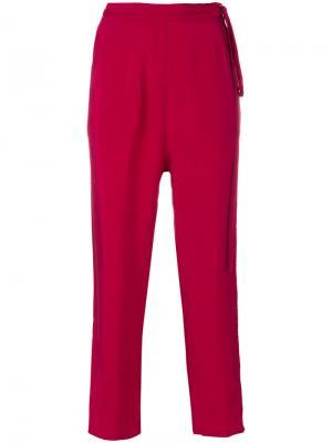 Укороченные свободные брюки Humanoid. Цвет: красный