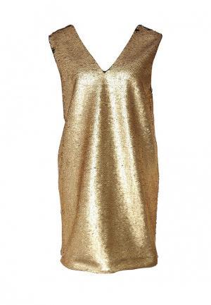 Платье Finders Keepers. Цвет: золотой