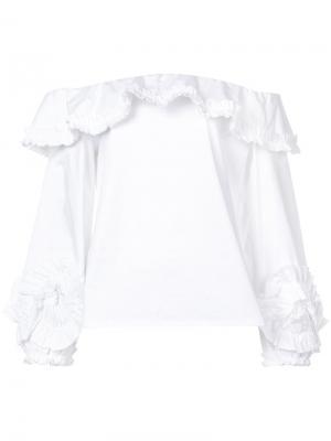 Блузка Regine Alexis. Цвет: белый