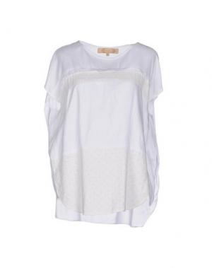 Блузка BONSUI. Цвет: белый