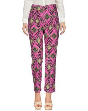 Повседневные брюки DIXIE. Цвет: фуксия