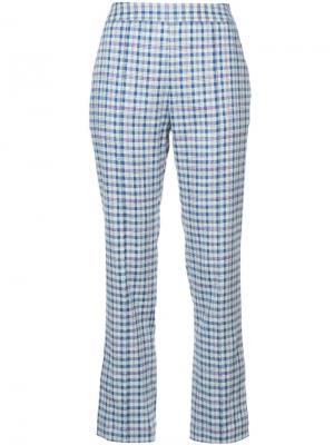 Укороченные брюки в клетку Rosie Assoulin. Цвет: синий