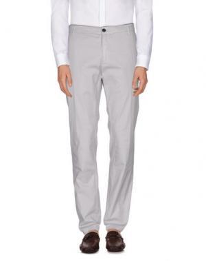 Повседневные брюки DEPARTMENT 5. Цвет: светло-серый