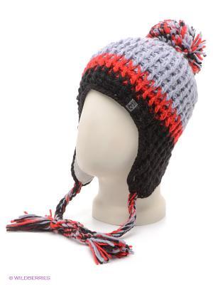 Шапка Ensis. Цвет: серый, красный, черный