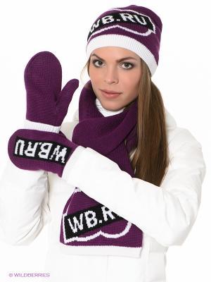 Комплект Ваша Шляпка. Цвет: фиолетовый, белый