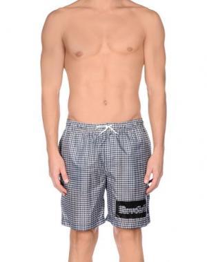 Пляжные брюки и шорты DANIELE ALESSANDRINI HOMME. Цвет: черный