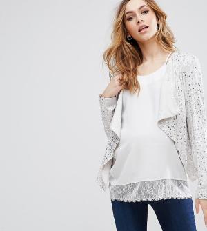 Isabella Oliver Куртка для беременных с пайетками Portofino. Цвет: мульти