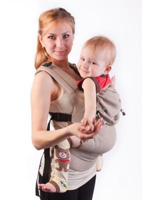 Эргономичный рюкзак Натуральный. Модель: Эко серия ЛЕН Sling Me. Цвет: бежевый