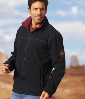 Куртка из Флиса AFM. Цвет: черныи