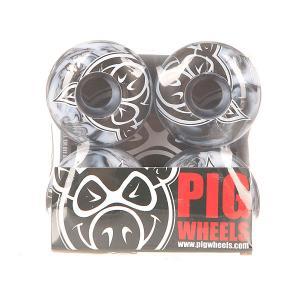 Колеса для скейтборда  Head Swirls New Black/Grey 100A 54 mm Pig. Цвет: черный,серый
