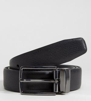 Heart & Dagger Фактурный кожаный ремень. Цвет: черный