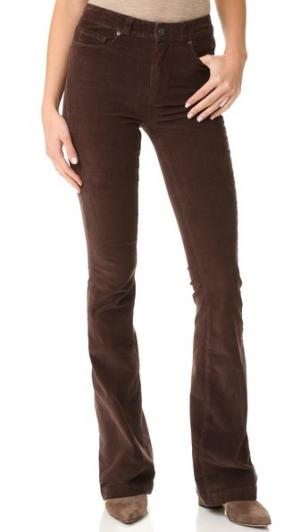 Расклешенные брюки Canyon с высокой посадкой PAIGE. Цвет: шоколадный