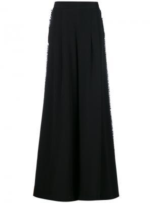 Классические брюки-палаццо Maria Lucia Hohan. Цвет: чёрный