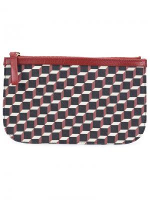 Клатч с кубическим принтом Pierre Hardy. Цвет: чёрный