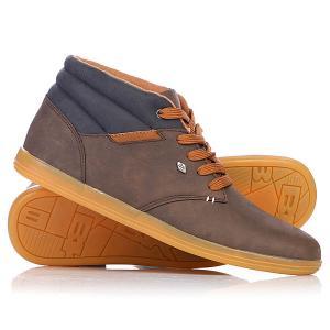 Кеды кроссовки высокие  Pilot Dark Brown/Navy/Cognac British Knights. Цвет: коричневый