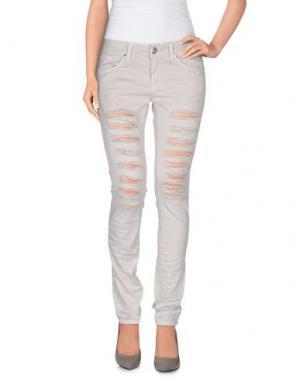 Повседневные брюки HANNY DEEP. Цвет: светло-серый