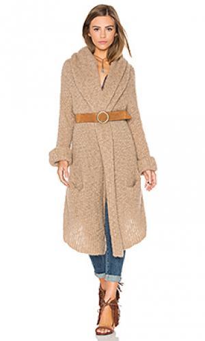 Кардиган с капюшоном stella 360 Sweater. Цвет: коричневый