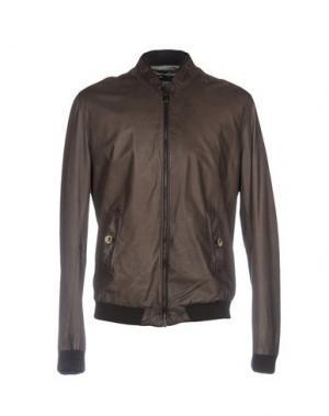 Куртка DANIELE ALESSANDRINI. Цвет: коричневый