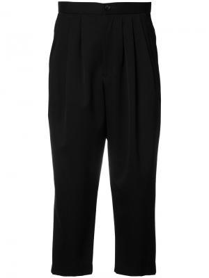 Укороченные брюки с заниженной шаговой линией Comme Des Garçons. Цвет: чёрный
