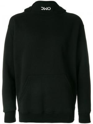 Толстовка с капюшоном и принтом логотипа Omc. Цвет: чёрный
