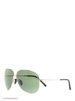 Солнцезащитные очки Porsche Design. Цвет: золотистый