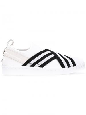 Кеды-слипон Superstar Adidas By White Mountaineering. Цвет: белый