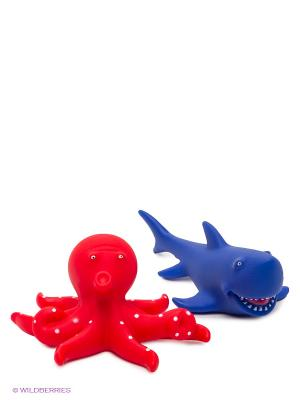 Пластизоль Акула и осьминог ЗАТЕЙНИКИ. Цвет: красный, синий